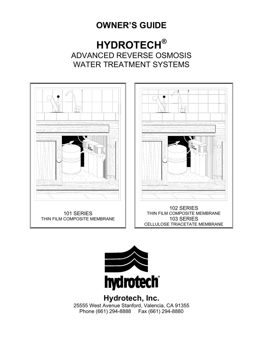 medium resolution of hydrotech reverse osmosis manual