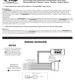 model c2r gm32r gm chime and data bus integration interface radio wiring diagram gm chime interface [ 791 x 1024 Pixel ]