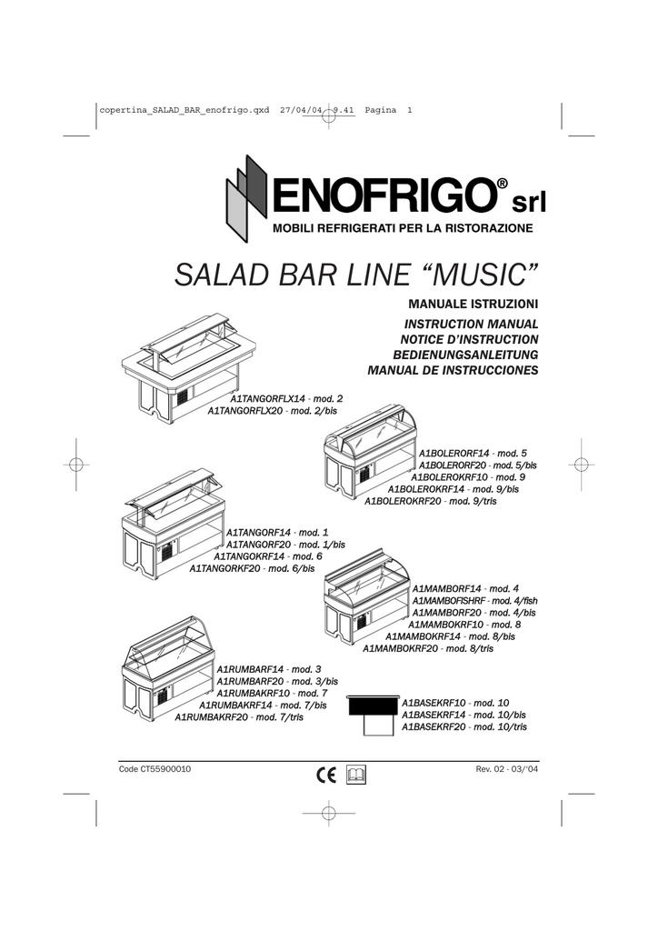 "SALAD BAR LINE ""MUSIC"" MANUALE ISTRUZIONI INSTRUCTION"