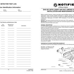 Notifier Duct Detector Wiring Diagram 2008 Chevy Malibu Dhx 0501 Intelligent Air Smoke Manualzz Com
