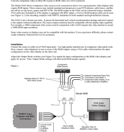 9a65 component to rgb converter owner s manual [ 791 x 1024 Pixel ]
