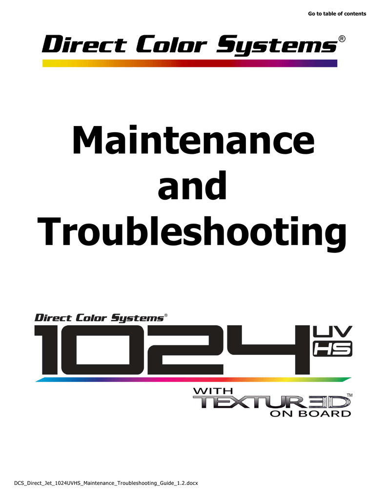 DCS_Direct_Jet_1024UVHS_Maintenance_Troubleshooting_Guide