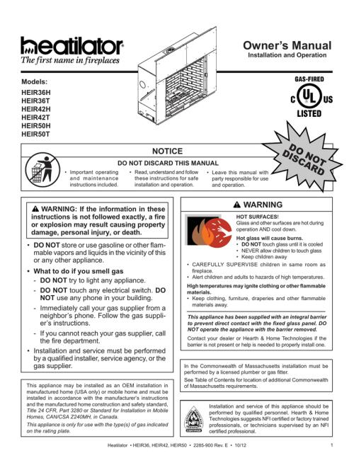 small resolution of heirloom installation manual