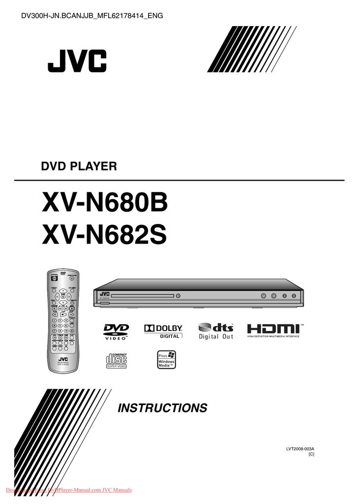 JVC XV-N680 User Guide Manual Operating Instruction Pdf