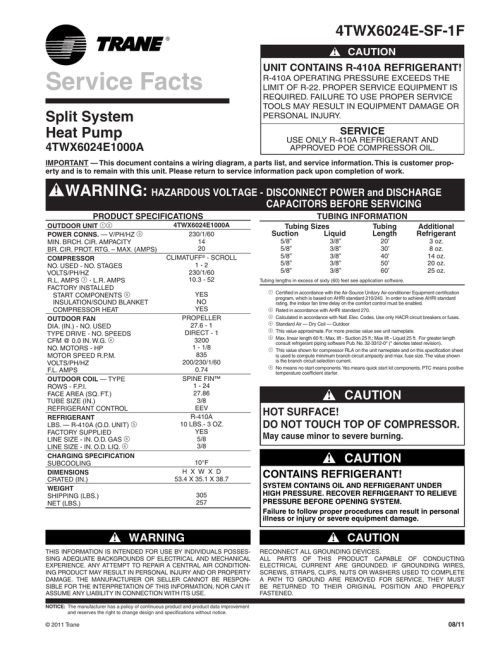 small resolution of trane xl16i heat pump service facts manualzz com trane xl16i wiring diagram