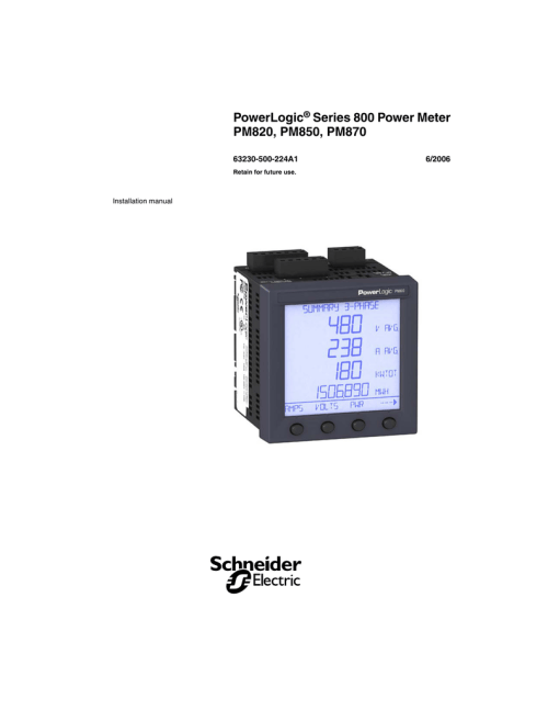 small resolution of powerlogic series 800 power meter pm820 pm850 pm870 installation manual en