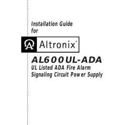 al600ul ada ada fire alarm signaling circuit power supply [ 791 x 1024 Pixel ]