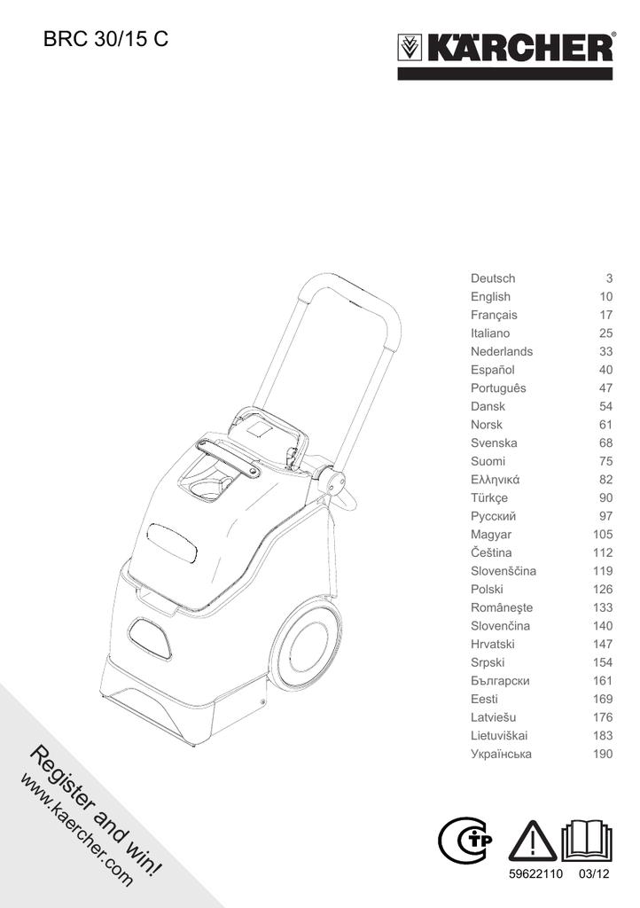 Mode Demploi Karcher Puzzi 100