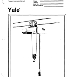 yalewirerope kewmanual yalewirerope kewmanual 3426 kew series electric wire rope hoist parts and instruction manual  [ 790 x 1024 Pixel ]