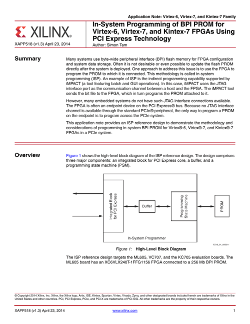 small resolution of in system programming of bpi prom for pci express technology