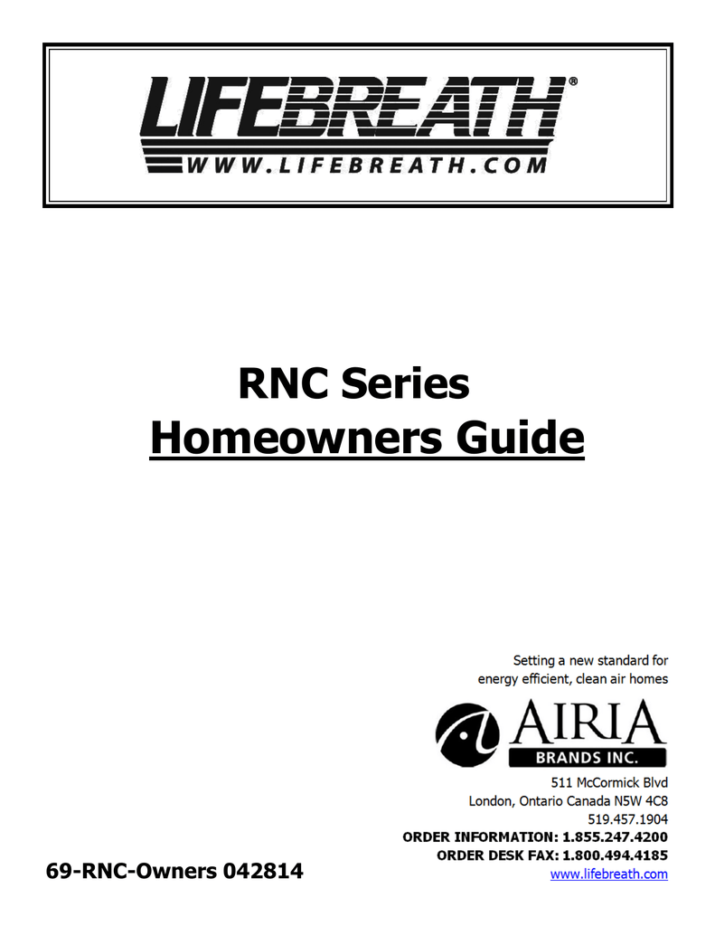Homeowners Guide RNC Series 042814 69-RNC-Owners