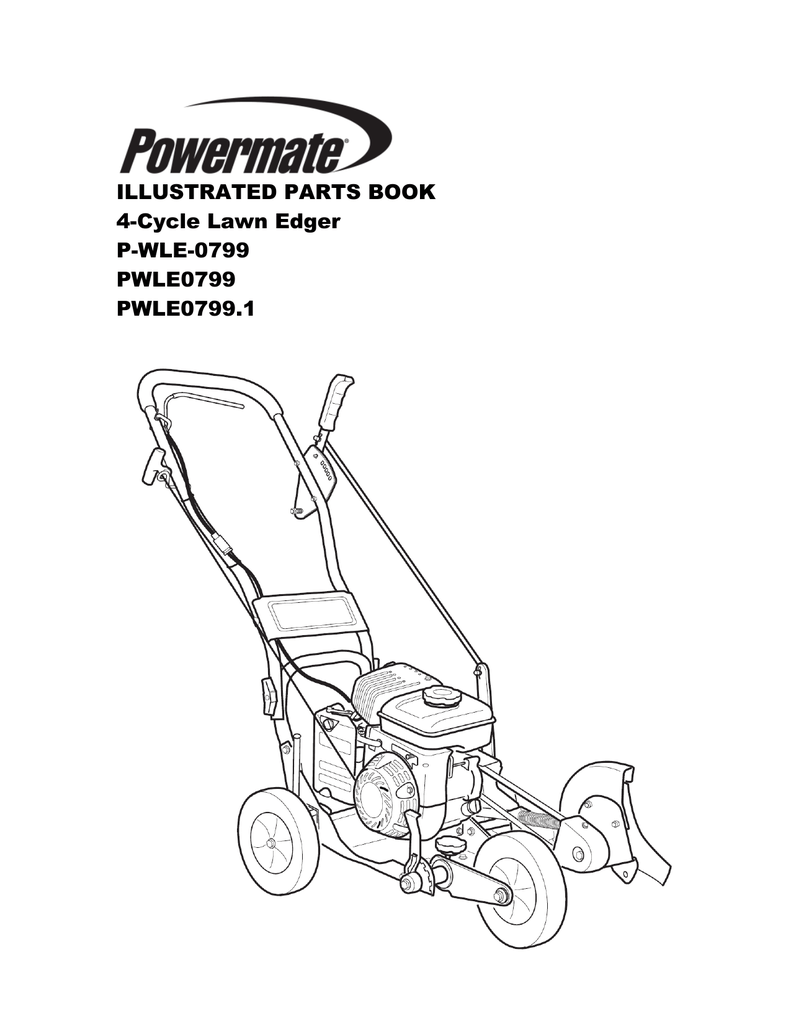 Powermate Lawn Edger Illustrated Parts Book for Model