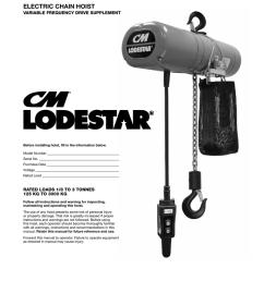 cm lodestar electric chain hoist vfd supplement 10001609 [ 791 x 1024 Pixel ]