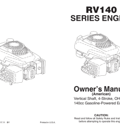 rv140 series engine owner s manual american vertical shaft 4 stroke ohv 140cc gasoline powered engine caution 439534 rev  [ 1024 x 791 Pixel ]