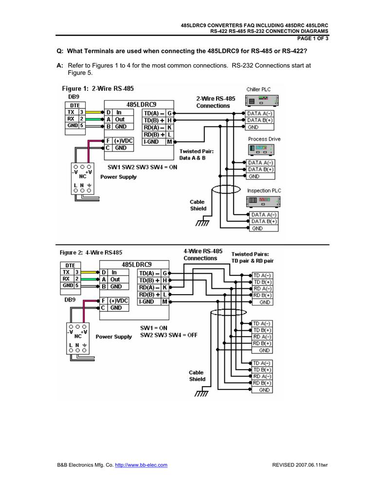 medium resolution of technical faq manualzz com 485ldrc9 converters faq including 485drc 485ldrc rs 422 rs 485 rs 232