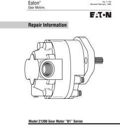 eaton repair information model 21300 gear motor b1 series gear motors [ 791 x 1024 Pixel ]