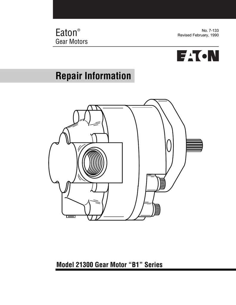 medium resolution of eaton repair information model 21300 gear motor b1 series gear motors