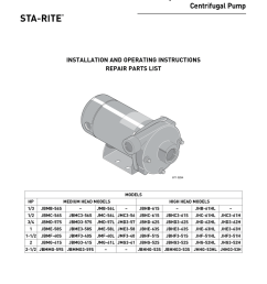 60 cycle j and jb series centrifugal pump installation and operating instructions [ 791 x 1024 Pixel ]