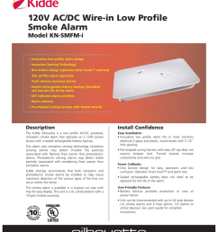 120v ac dc wire in low profile smoke alarm model kn smfm i manualzz com [ 809 x 1024 Pixel ]