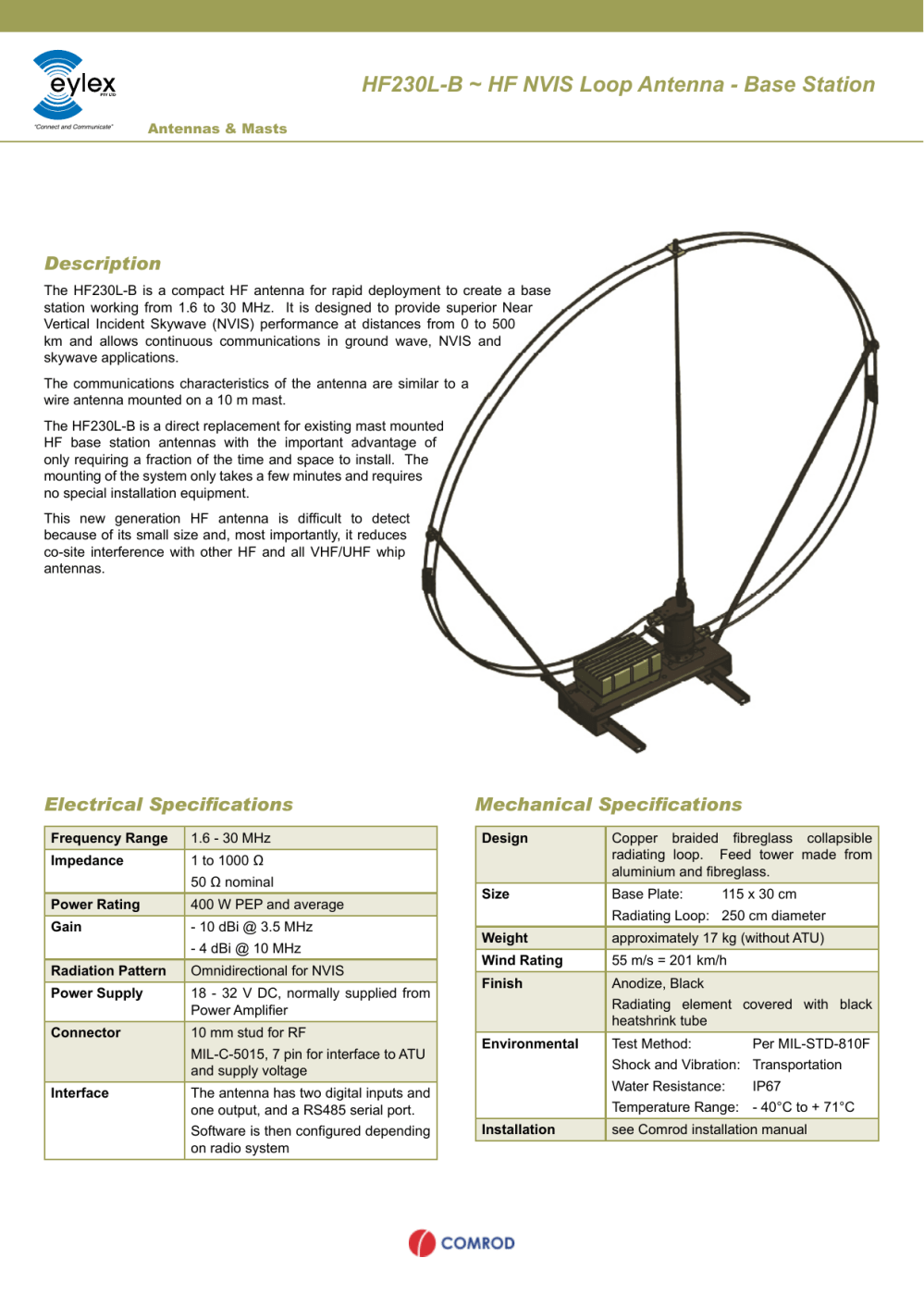 medium resolution of hf230l b hf nvis loop antenna base station