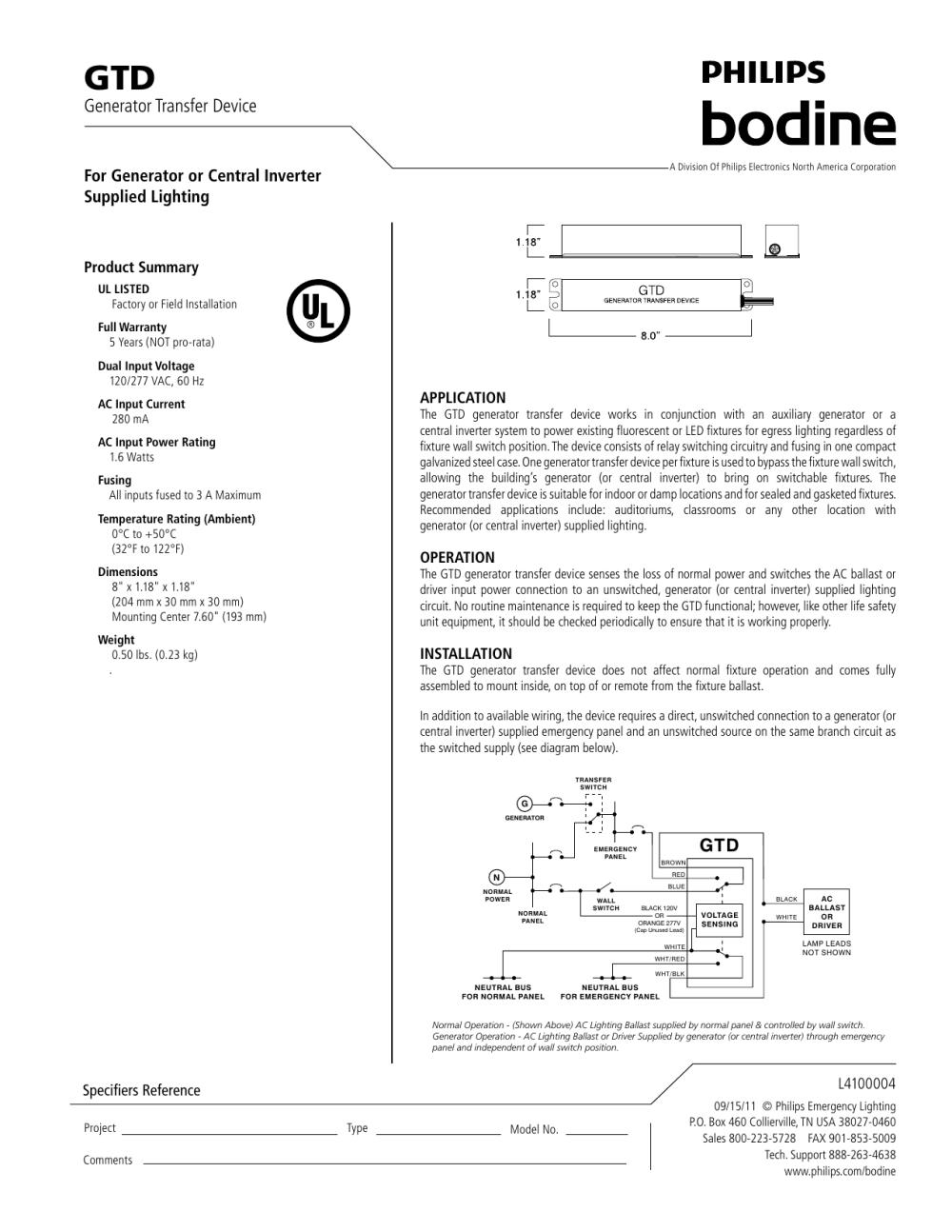 medium resolution of  generator transfer device manualzz com on bodine lighting bodine lighting rep bodine emergency lighting relay on lighting circuit wiring diagram