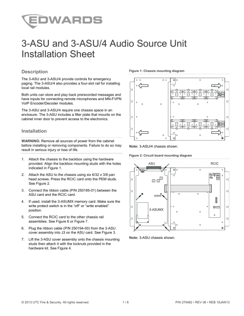 small resolution of 3 asu and 3 asu 4 audio source unit installation sheet