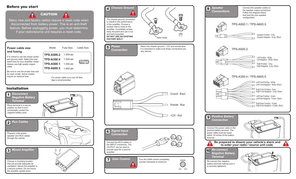 medium resolution of hifonics car amplifiers installation guide