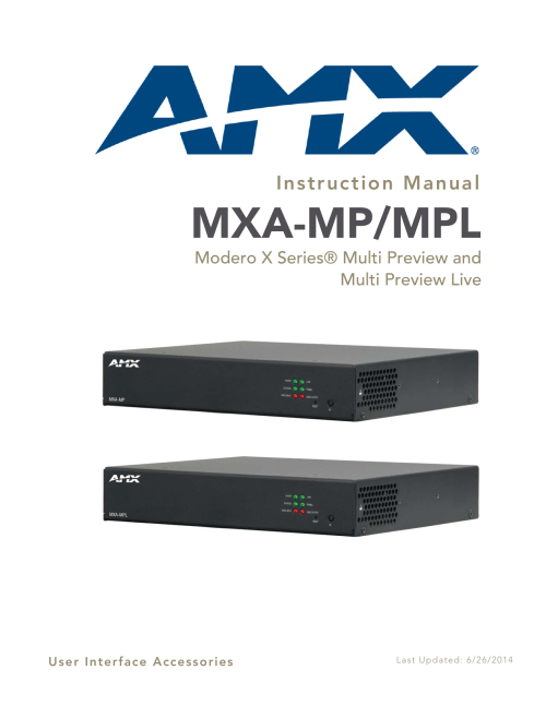 small resolution of modero x series multi preview and multi preview live mxa