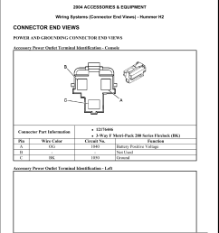 connector end views manualzz com hummer h2 wiring harness enginerear connector views [ 1275 x 1651 Pixel ]