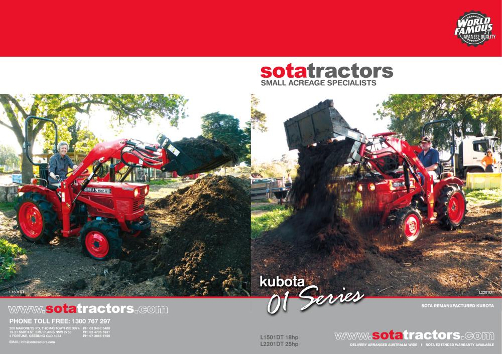 medium resolution of kubota sota tractors