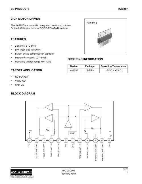 small resolution of ka9257 2 ch motor driver