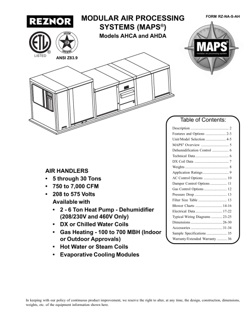 small resolution of  modular air processing systems maps manualzz com on hot water heater