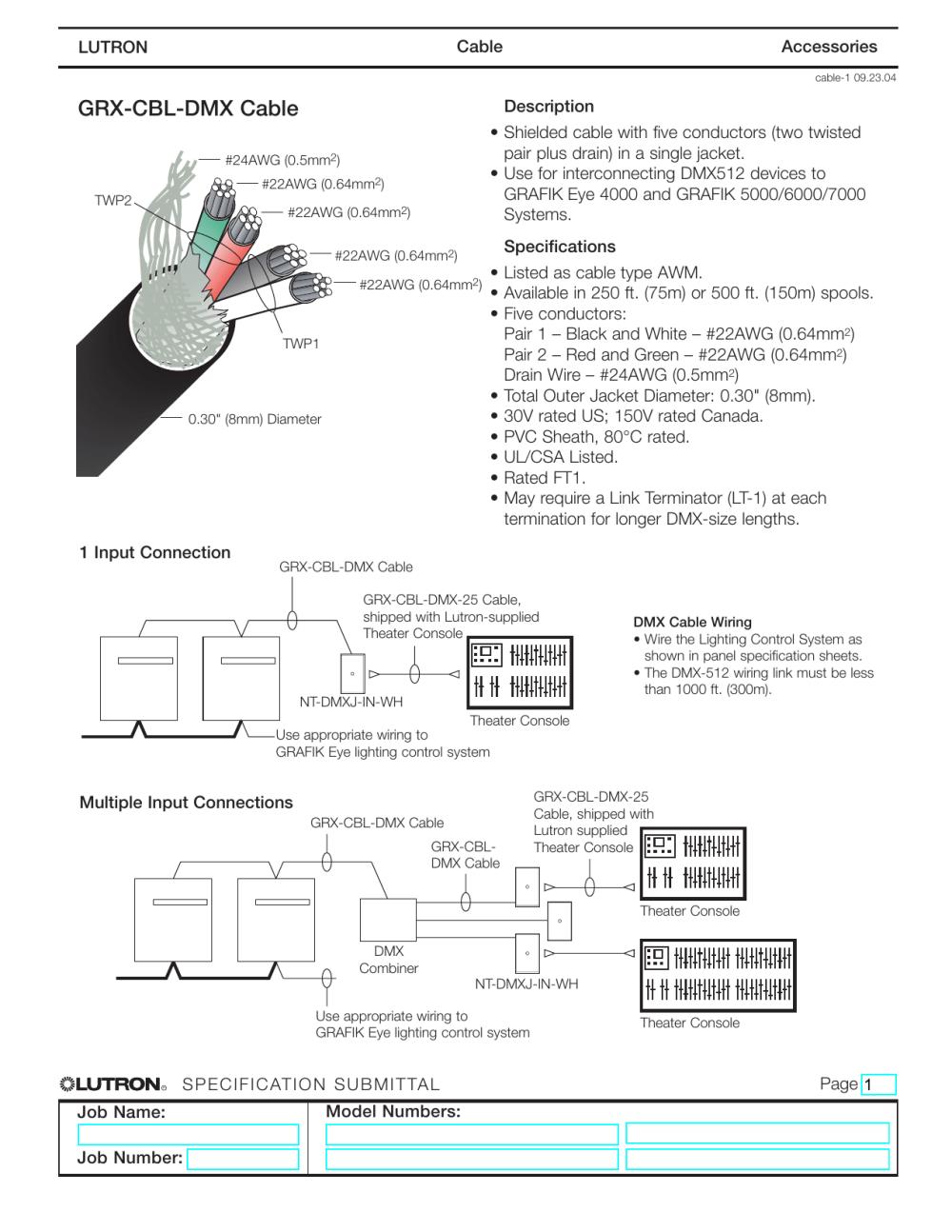 medium resolution of grx cbl dmx cable