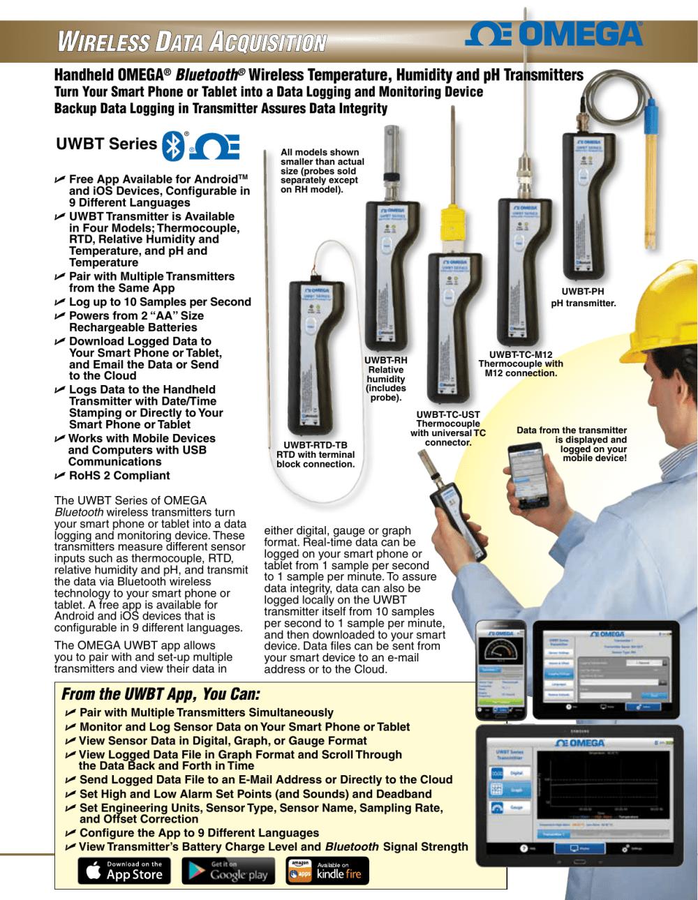 medium resolution of handheld omega bluetooth wireless temperature humidity