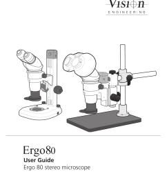ergo80 stereo microscope user guide v10 [ 1241 x 1754 Pixel ]