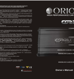 orion car amplifiers owners manual [ 1655 x 1213 Pixel ]