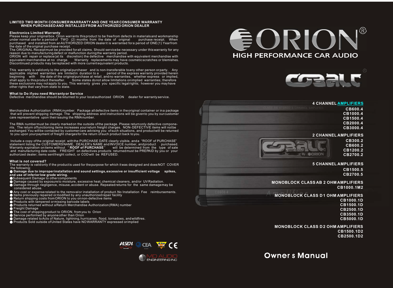 hight resolution of orion car amplifiers owners manual