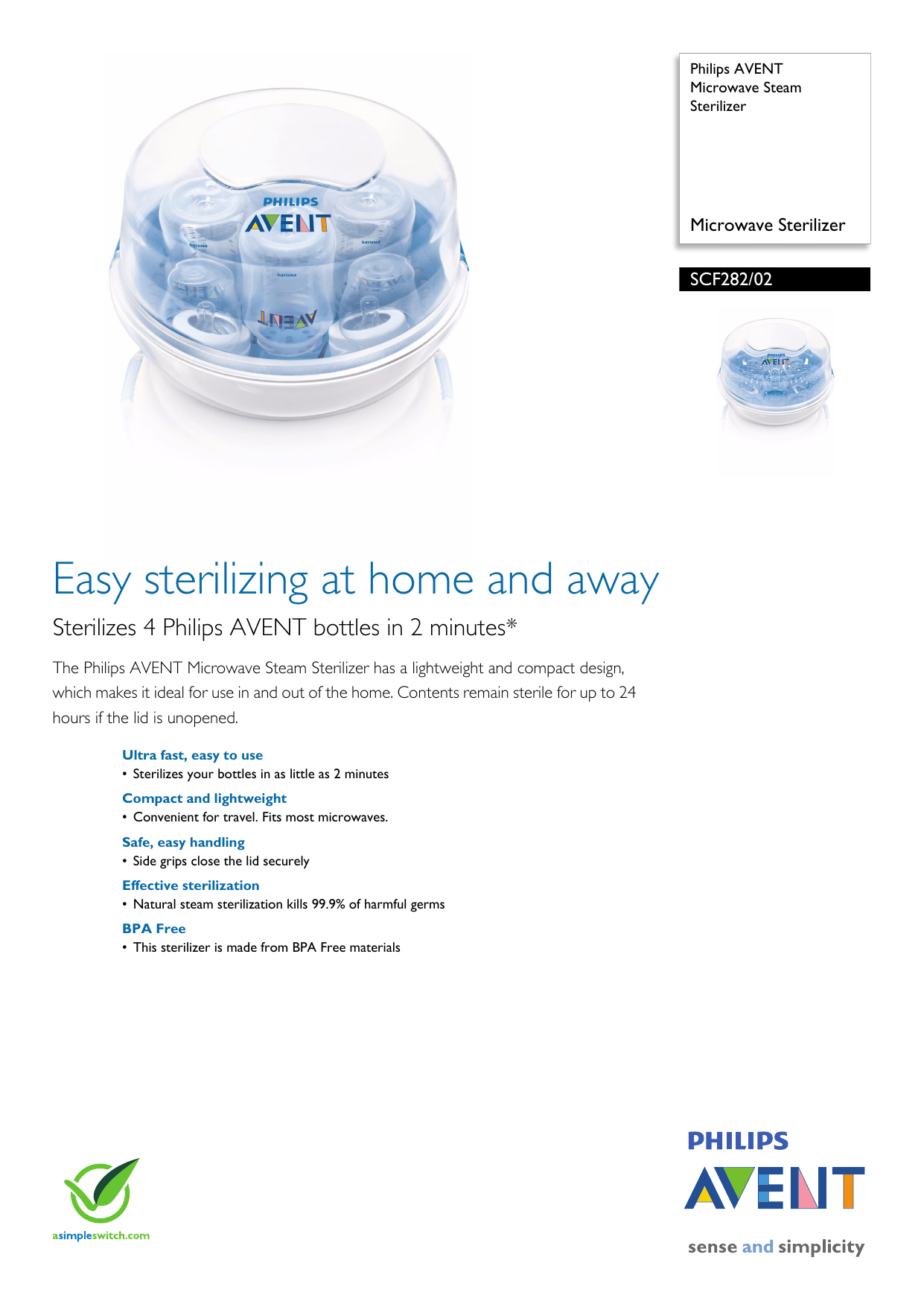 philips avent microwave steam