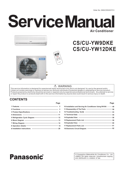 small resolution of panasonic air conditioner