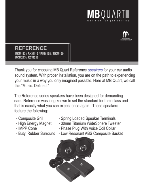 small resolution of mb quart speakers installation instructions