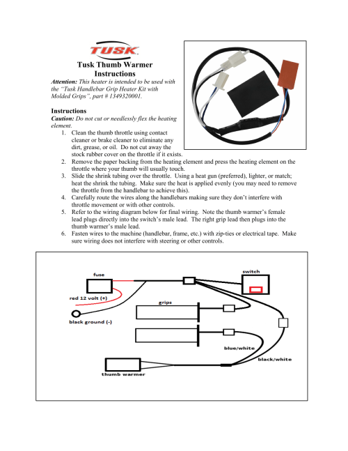 small resolution of tusk thumb warmer instructions