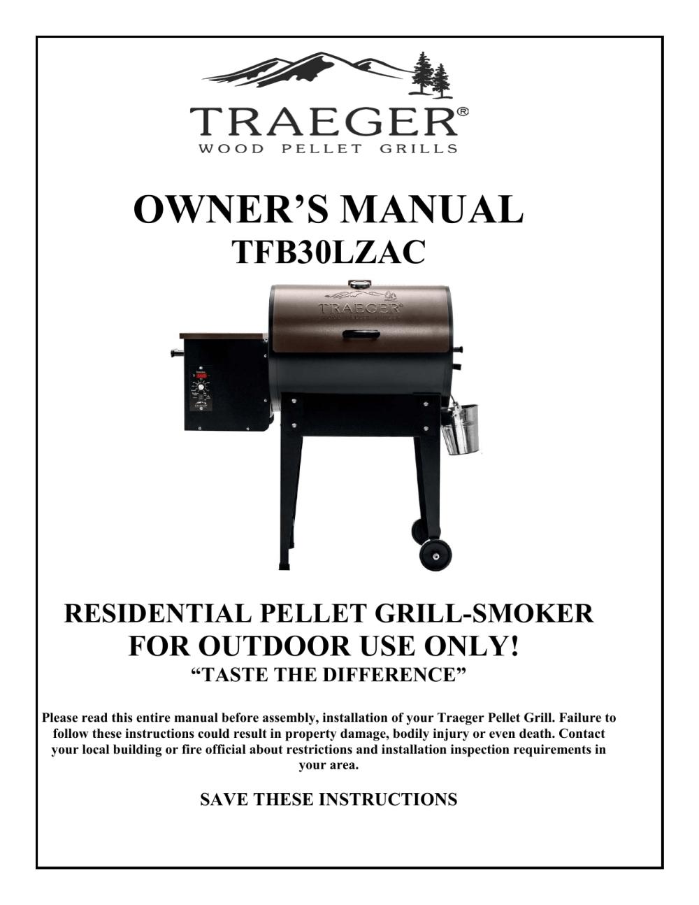 medium resolution of owner s manual traeger wood pellet grills