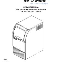 service manual the ciu series undercounter ice o [ 1275 x 1651 Pixel ]