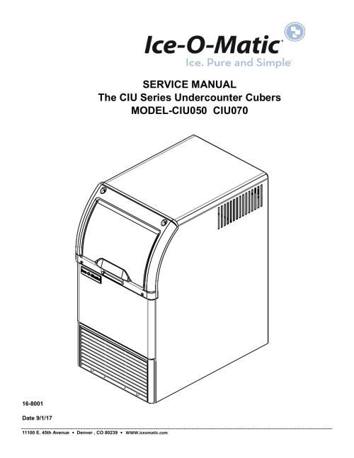 small resolution of service manual the ciu series undercounter ice o