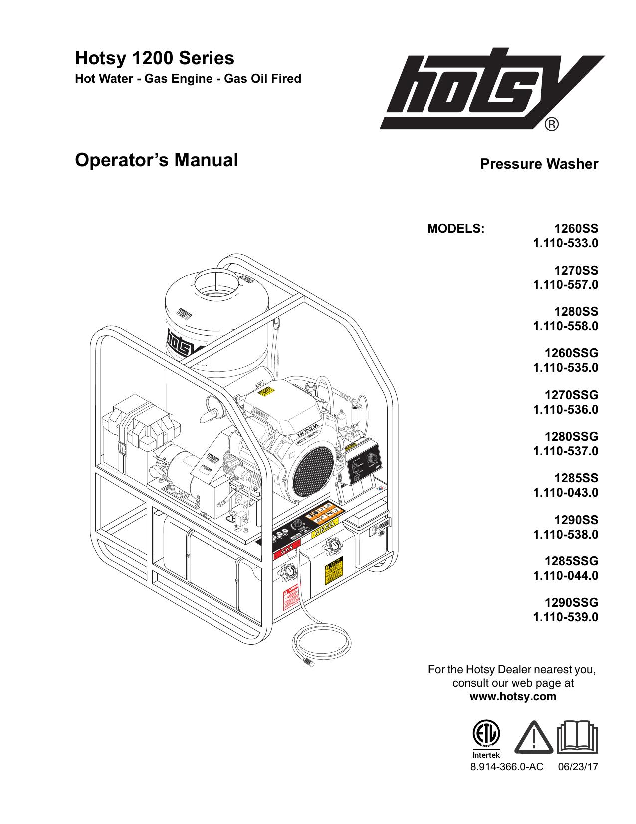 Hotsy Pressure Washer Wiring Diagram