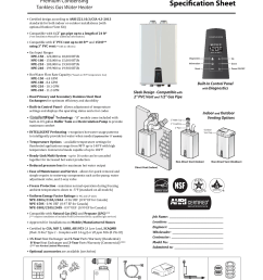 navien tankless water heater spec sheet [ 1275 x 1651 Pixel ]