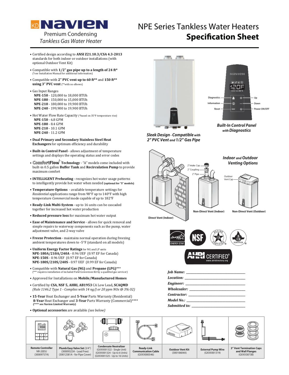 medium resolution of navien tankless water heater spec sheet
