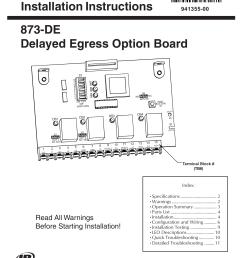 installation instructions 873 de delayed egress option [ 1275 x 1651 Pixel ]