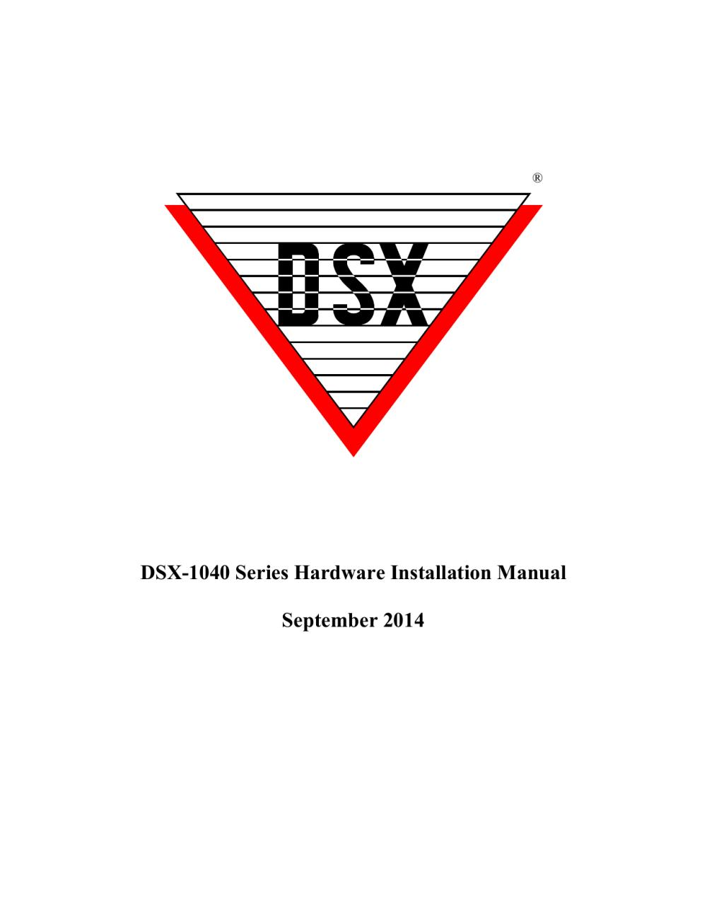 medium resolution of dsx 1040 series hardware installation manual september