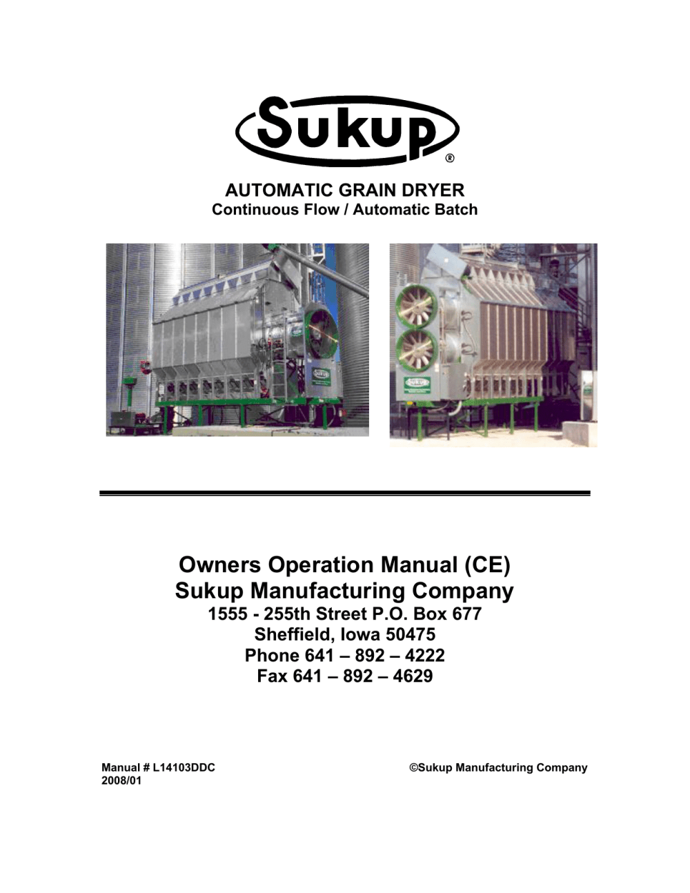 medium resolution of owners operation manual ce sukup manufacturing company